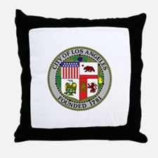 Los Angeles Seal Throw Pillow