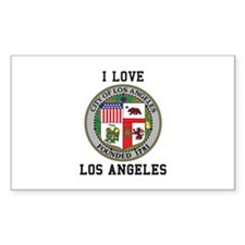 I Love Los Angeles Decal
