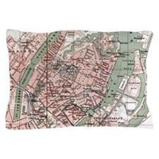 Vintage Map of Copenhagen Denmark (188 Pillow Case