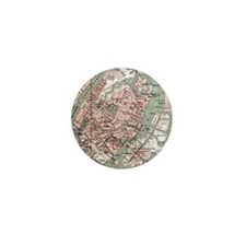 Vintage Map of Copenhagen Denmark (188 Mini Button
