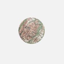 Vintage Map of Copenhagen Denmark (188 Mini Button