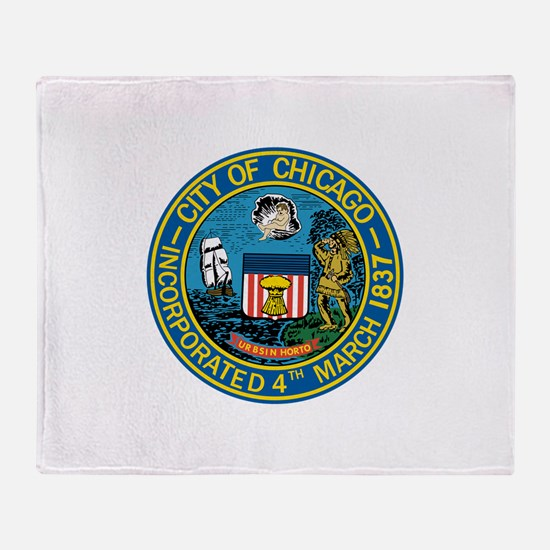 City of Chicago Seal Throw Blanket