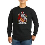 Wortley Family Crest Long Sleeve Dark T-Shirt