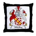 Wortley Family Crest Throw Pillow