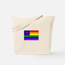 Christian Gay Flag Tote Bag
