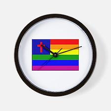 Christian Gay Flag Wall Clock