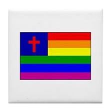 Christian Gay Flag Tile Coaster