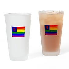 Christian Gay Flag Drinking Glass