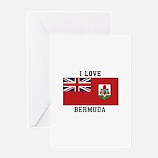 I Love Bermuda Flag Greeting Cards