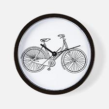 Vintage American Bicycle Diagram Wall Clock