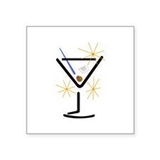 Martini Glass Sticker