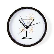 Martini Glass Wall Clock