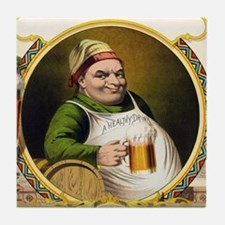Vintage Lager Beer Advertisement Tile Coaster