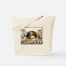 Vintage Lager Beer Advertisement Tote Bag