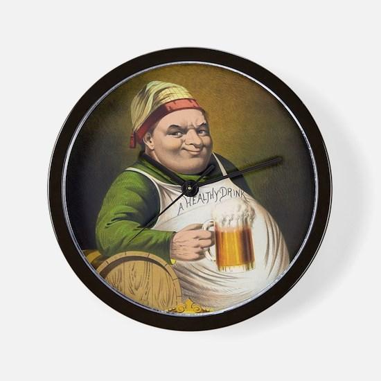 Vintage Lager Beer Advertisement Wall Clock