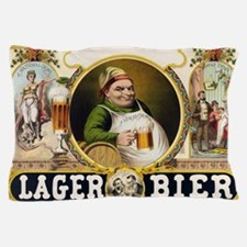 Vintage Lager Beer Advertisement Pillow Case