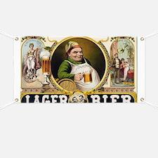 Vintage Lager Beer Advertisement Banner