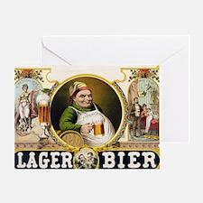 Vintage Lager Beer Advertisement Greeting Card