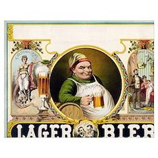 Vintage Lager Beer Advertisement Poster