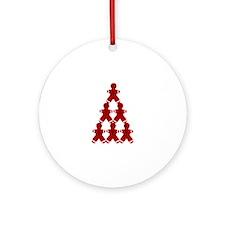 Gingerbread Men Ornament (Round)