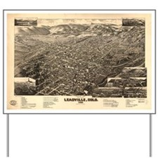 Vintage Pictorial Map of Leadville CO (1 Yard Sign
