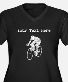 Distressed Cyclist Silhouette (Custom) Plus Size T