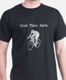 Distressed Cyclist Silhouette (Custom) T-Shirt