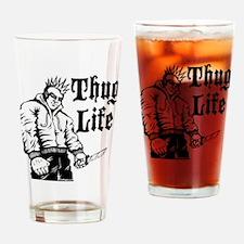 Funny Ganster Drinking Glass