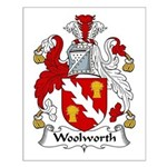 Woolworth Family Crest Small Poster