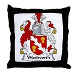 Woolworth Family Crest Throw Pillow