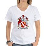 Woolworth Family Crest  Women's V-Neck T-Shirt