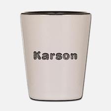 Karson Wolf Shot Glass