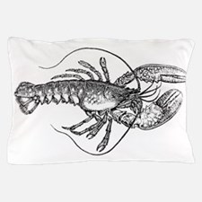 Vintage Lobster illustration Pillow Case