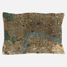 Vintage Map of London England (1860) Pillow Case