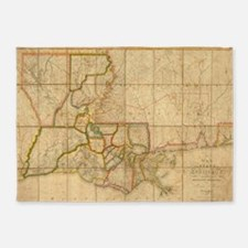 Vintage Map of Louisiana (1816) 5'x7'Area Rug