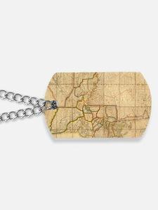 Vintage Map of Louisiana (1816) Dog Tags