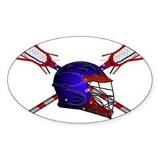 Lacrosse Helmet with stick Decal