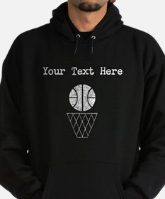 Distressed Basketball And Hoop (Custom) Hoodie