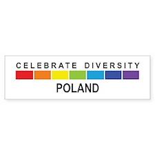POLAND - Celebrate Diversity Bumper Bumper Sticker