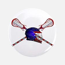 Lacrosse Helmet with sticks Button