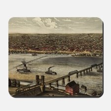 Vintage Pictorial Map of Louisville (187 Mousepad