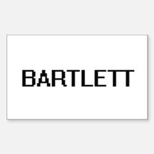 Bartlett digital retro design Decal