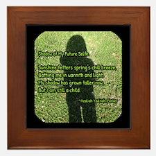 Shadow Of My Future Selfie Framed Tile