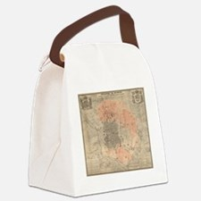 Vintage Map of Madrid Spain (1861 Canvas Lunch Bag