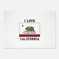 I Love California 5'x7'Area Rug