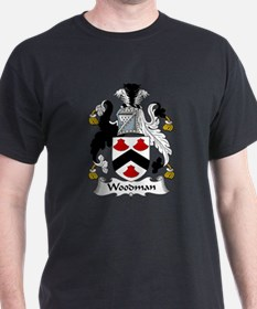 Woodman Family Crest T-Shirt