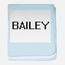 Bailey digital retro design baby blanket