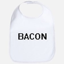 Bacon digital retro design Bib
