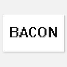 Bacon digital retro design Decal