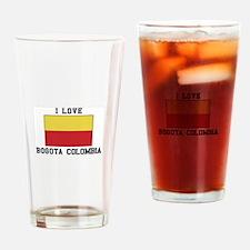 I Love Bogota, Colombia Drinking Glass